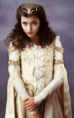 """Mia Sara from """"Legend"""" in one of my favorite movie costumes of all time. Mia Sara, Legend Images, Ridley Scott, Portraits, Fantasy Movies, Fantasy Costumes, Movie Costumes, Halloween Costumes, Medieval Fantasy"""