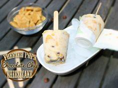 Chocolate Chip Cheesecake Freezer Pops #recipe