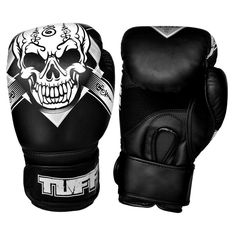 9371cb8d1 SKULL Thai Boxing Gloves Black Kids Muay Thai Gloves 8 oz - 16 oz Leather  Women