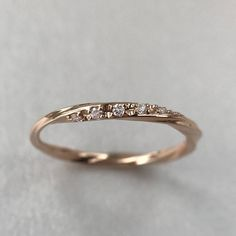 Wedding band women, unique diamond eternity curved in, diamond ring, dainty white gold stackable ring, delicate stacking ring - Yersq Sites Baguette Diamond Wedding Band, Curved Wedding Band, Wedding Rings, 14k Gold Ring, Sterling Silver Rings, Gold Rings, Chantal, Delicate Rings, Diamond Bands