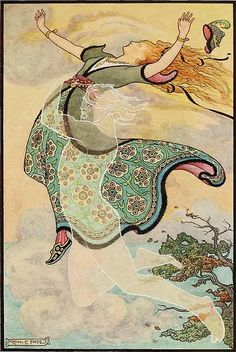 """Whirlwind the Whistler Carries Away Golden Trees"". Illustration for a book of Russian folk tales, Frank Cheyne Papé, 1916 Photo D Art, Fairytale Art, Fairytale Drawings, Russian Folk, Inspiration Art, Children's Book Illustration, Book Illustrations, Vintage Art, Fantasy Art"
