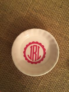 A personal favorite from my Etsy shop https://www.etsy.com/listing/268954717/monogrammed-ring-dishes