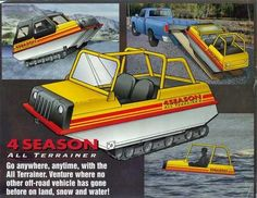 All Terrainer Model 54 amphibious transport Snow Vehicles, Camper Boat, Strange Cars, Electric Tricycle, Amphibious Vehicle, Military Drawings, Crawler Tractor, Toys For Boys, Boy Toys