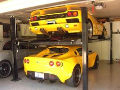 Anyone used Garage Car Lifts for parking 2 cars - Page 3 - LotusTalk - The Lotus Cars Community Ceiling looks 8' and tight