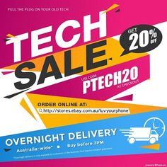 Pull the Plug on your Old Tech with 20% off at luvyourphone eBay store. Use code PTECH20 at checkout. T&C's apply.