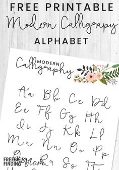 Would you like to learn how to write the modern calligraphy alphabet? This Free Printable Modern Calligraphy Practice Sheet is a great way to get started for beginners. With practice you can master this skill which is useful for a variety of projects. Mod