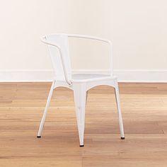 Charmant Metal Tub Chair, White $109.99