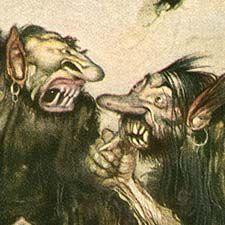 Gustaf Tenggren's Grimm's Fairy Tales (detail).