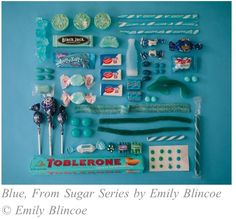 In Austin-based photographer Emily Blincoe created this comprehensive series of various candy organized by color, calling it her Sugar Series. Such a great mix of common and nostalgic sweets.