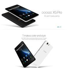 5.0 inch DOOGEE X5 Pro Android 5.1 4G Smartphone MTK6735 64bit Quad Core 16GB ROM OTG OTA Bluetooth 4.0  -  BLACK