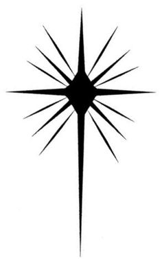 christmas star clip art black and white the nativity star is the rh pinterest com Star of Bethlehem Silhouette star of bethlehem clipart images
