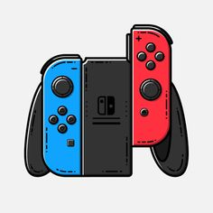 Nintendo ControllersSeries by Geoffrey Humbert Cool Backgrounds Wallpapers, Gaming Wallpapers, Control Nintendo, Logo Ig, Video Game Art, Video Games, Nintendo Controller, Black Panther Art, Game Wallpaper Iphone