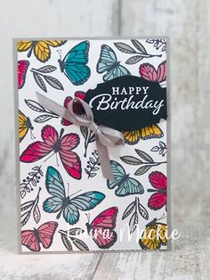 Card Sketches, Happy Thoughts, Stampin Up, Card Making, Happy Birthday, How To Make, Cards, Think Happy Thoughts, Happy Brithday