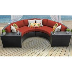 Sol 72 Outdoor™ Merlyn 11 Piece Sectional Seating Group with Cushions | Wayfair Outdoor Wicker Patio Furniture, Patio Furniture Sets, Barbados, Pool Floats For Adults, Small Patio, Oasis, Paradise, Cushions, Rattan