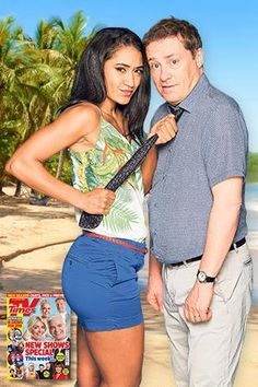 Ardal Pictured with Death In Paradise co-star Parisian actress and singer Josephine Jobert Sara Martins, Cozy Mysteries, Murder Mysteries, Death In Paradise, Father Ted, Tv Detectives, French Models, French Actress, Great Films