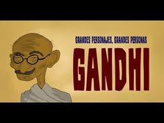 Recursos para Educación Infantil: Biografía de Gandhi-Biografia de Gandhi Gandhi, Marie Curie, Color Crafts, India, Activities For Kids, Peace, Learning, Primer Video, Festivals