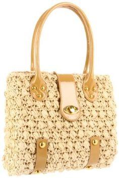 Magid Novelty Woven Turnlock Shoulder Bag $90.00