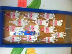My Christmas door! Love how the Santas turned out!!