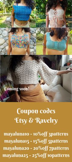 72263a7dcc9dd Use these coupon Codes in both of my pattern shops! mayaluna10 - 10%off