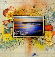 """Weekend getaway"" Scraps of darkness January kit - created by Kristie Taylor"