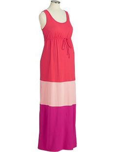 Maternity Color-Block Maxi Dresses | Old Navy I so want this!