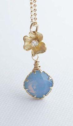 Fresh Soft Blue Necklace