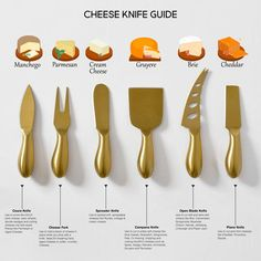 Cheese knife guide for the perfect platter. Wine And Cheese Party, Wine Cheese, Aldi Cheese, Cooking Cheese, Fancy Cheese, Queso Cheese, Cooking Corn, Cooking Beets, Cheese Food
