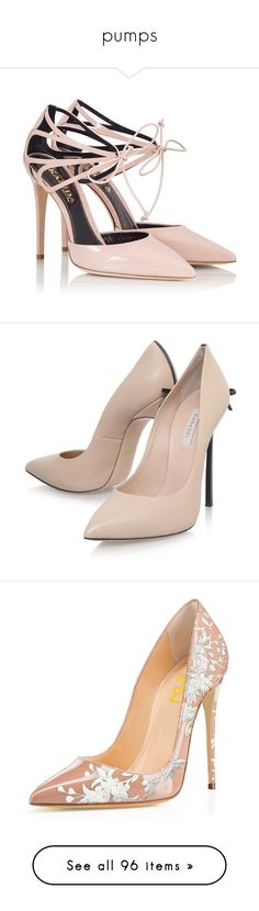 """""""pumps"""" by kitten-poker ❤ liked on Polyvore featuring shoes, pumps, heels, sapatos, high heels, nude, stiletto heel pumps, patent leather pumps, bridal shoes and heels stilettos"""
