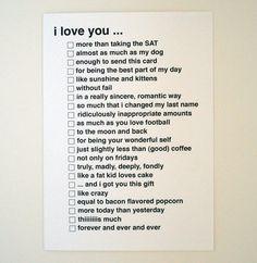 I love you... card