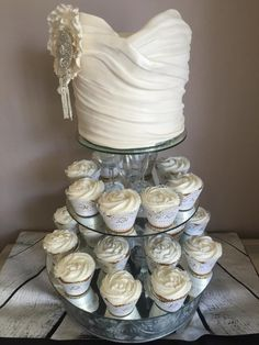 Bodice wedding cake and cupcakes - Cake by Totally Caked!