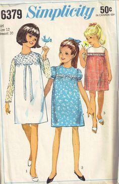 Simplicity 6379 Sewing Pattern Vintage1960s by PeoplePackages, $3.95
