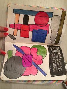 Desenhe o contorno dos objetos dentro da sua bolsa #destruaestediario - by Erica A. P. Gonçalves