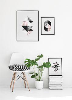 Grafiske plakater med trekanter | Trendy plakater og posters online.