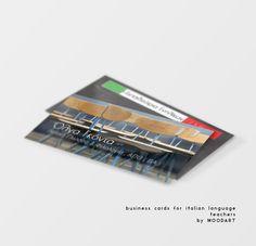 business cards for italian language teachers