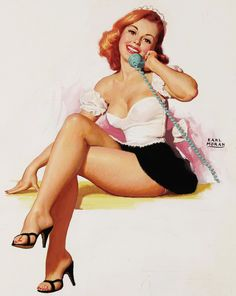 Earl Moran Vintage Redhead Pin Up Girl Pin Up Vintage, Pin Up Retro, Photo Vintage, Vintage Redhead, Retro Vintage, Earl Moran, Pin Up Illustration, Illustrations, Fotos Pin Up