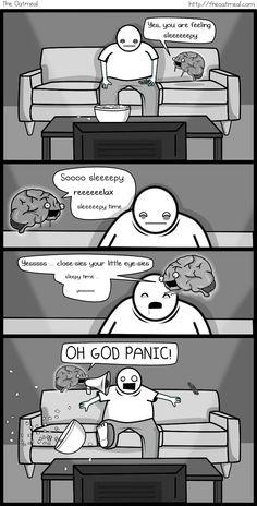 My Favorite The Oatmeal comic... If my brain was an imaginary friend.. - Imgur