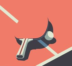 #FolioFeatured Who's up for a #game of ping pong? Sleek use of negative space by @petergreenwooduk #illustration #tabletennis #pingpong
