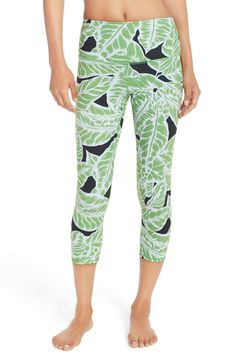 Alo 'Airbrush' High Waist Capris in Palm Spring Glowstick | $82.00