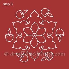 Kolam to draw rangoli designs tekenen Simple Rangoli Designs Images, Rangoli Designs Flower, Rangoli Patterns, Rangoli Ideas, Rangoli Designs Diwali, Rangoli Designs With Dots, Kolam Rangoli, Flower Rangoli, Rangoli With Dots