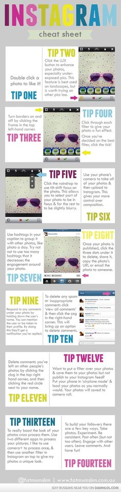 Instagram Cheatsheet -- I need this, ive never ventured into instagram ;)