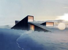 Oh Norway..  'mountain hill cabin' is a seasonal residence by oslo-based practice fantastic norway to be constructed within a highly restricted mountainous terrain in ål, norway. accessible solely by skis during the winter months,   the dwelling will support the inhabitants activities of skiing and sledge riding along with outdoor picnics overlooking   the scenery from a terrace upon the structure. strict building regulations led to the outward form's height along   with consideration for…
