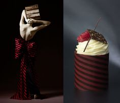 INSPIRED BY VICTOR EDELSTEIN, WILLIAM CURLEY'S ARTISTIC COUTURE CAKE.