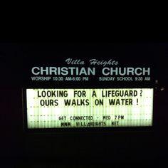 Lifeguard Church Sign