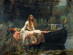 One of my favourite paintings...The Lady of Shallot by John Waterhouse
