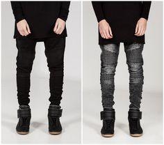 European and american style skinny jeans men distrressed mens slim fit jeans hip hop men pencil pants  => Price : $24.42