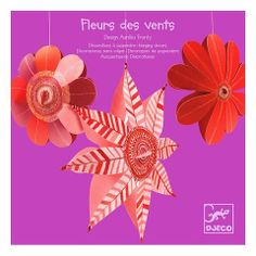 Little dreamers can decorate their room with these lovely hanging lightweights from Djeco. Each come with 3 paper flowers ready to be hung on colourful threads. Paper Puppets, Paper Toys, Paper Crafts, Hanging Flowers, Paper Flowers, Padded Coat Hangers, Hanging Paper Decorations, Puzzle Crafts, Pink