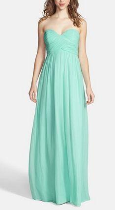 Minty bridesmaid dress by Donna Morgan
