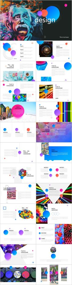 Spherical color creative design PowerPoint template on Behance Simple Powerpoint Templates, Professional Powerpoint Templates, Ppt Template, Business Powerpoint Presentation, Presentation Layout, Architectural Presentation, Presentation Slides, Creative Design, Web Design
