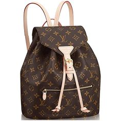 0330952eab601 Amazon.com  Louis Vuitton Monogram Canvas Backpack Montsouris Article    M43431 Made in France  Shoes