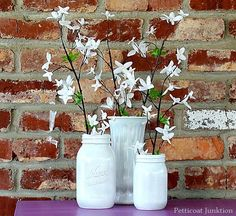 you can spray paint glass jars petticoat junktion project